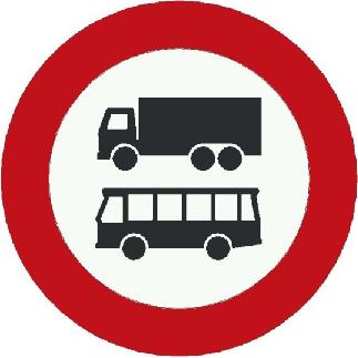 Bussen en vrachtverkeer in de Vesting